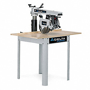"Radial Arm Saw 10"", 3450 No Load RPM, 0, 45° R/L Miter Capacity"