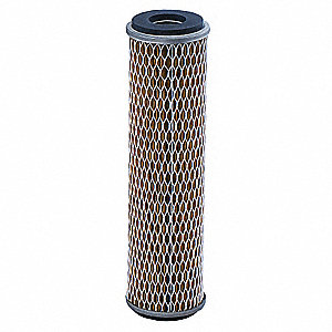 "10 Micron Rating Filter Cartridge, 2-1/2"" Diameter, 9-5/8"" Height, 7.00 gpm"