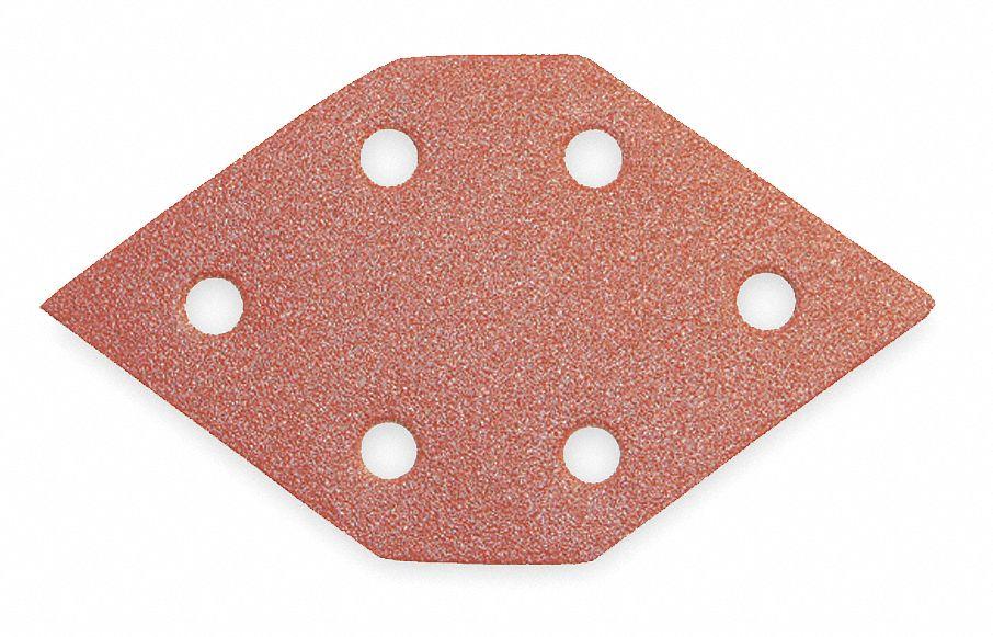 5-Pack PORTER-CABLE 767601005 100 Grit Diamond-Shaped Hook /& Loop Profile Sanding Sheets