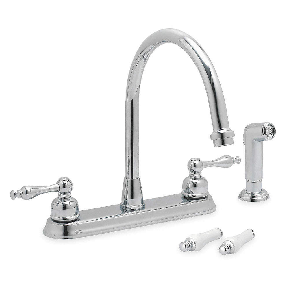 TRIDENT Brass & Plastic Kitchen Faucet with Side Sprayer, Manual ...