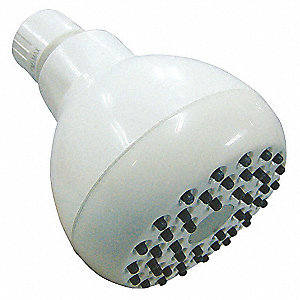 Plastic Wall Mount Shower Head, 2.5 gpm