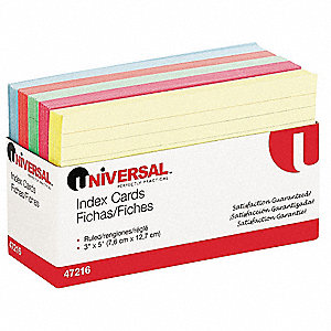 "3"" x 5"" Index Cards, Ruled"