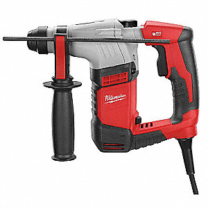 SDS Plus Rotary Hammer Kit, 5.5 Amps, 0 to 4400 Blows per Minute, 120 Voltage