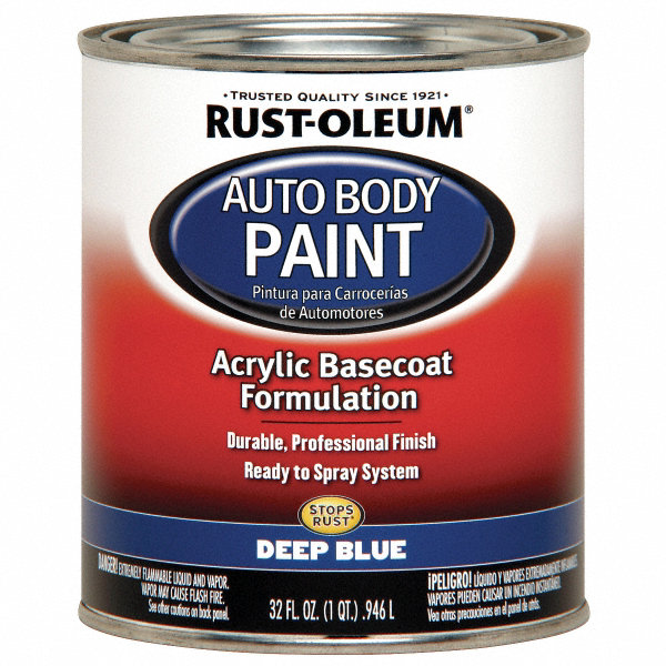 Rust Oleum Auto Body Paint Deep Blue 1 Qt 6per0 253505 Grainger