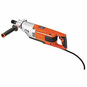 Handheld Coring Drill, 15 Amps @ 120V, 1.5 Motor HP, 730/1700/3600 No Load RPM
