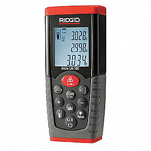 "Laser Distance Meter, ±1/16"" Accuracy, 164 ft./50M Range"