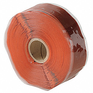 "1""W Silicone Rubber Self-Fusing Tape, Red Oxide, 432"" Length"