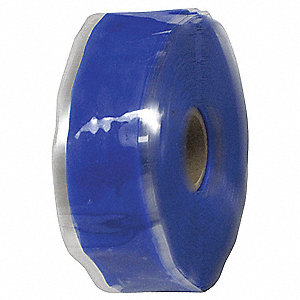 "1""W Silicone Rubber Self-Fusing Tape, Blue, 432"" Length"