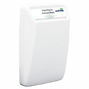 120 to 277VAC Wireless Wall Switch, Card Activated, White