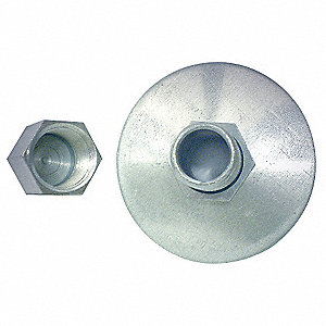 "Galvanized Steel Drain, 1-3/4"" Duct Fitting Length"