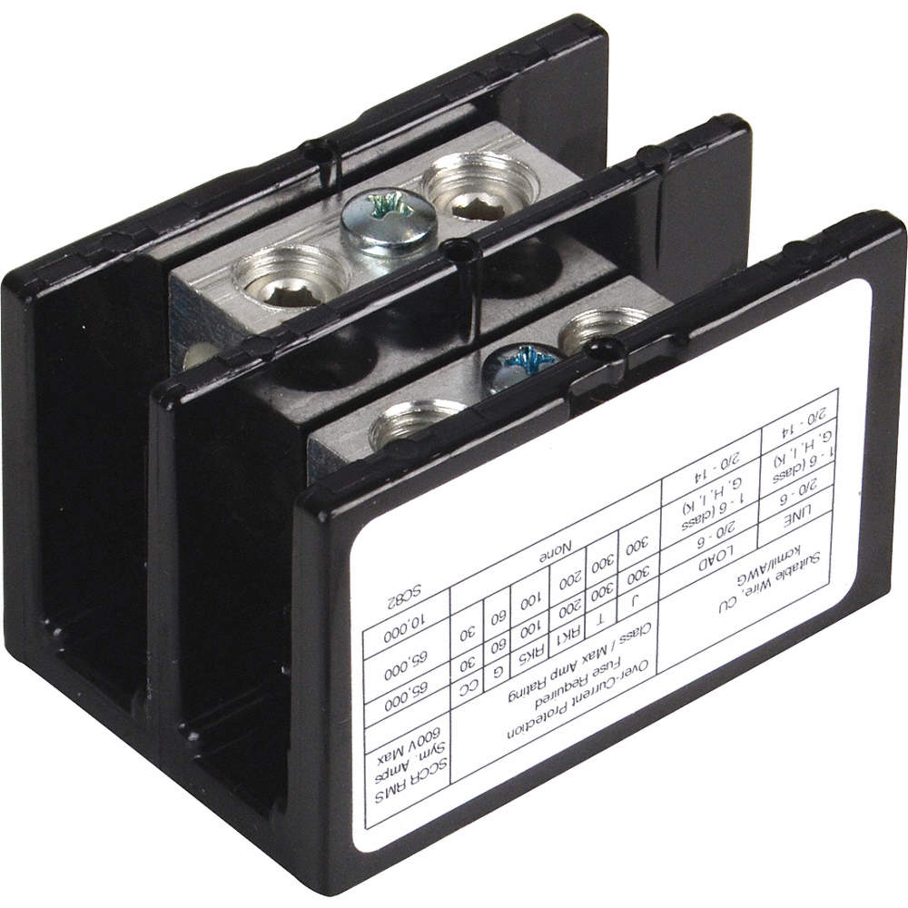 SQUARE D Power Distribution Block, 175 Max. Amps, Number of Poles: 2 ...