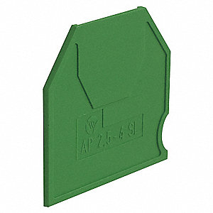 "Terminal Block End Barrier, For Use With 0.200"" Grounding Block"