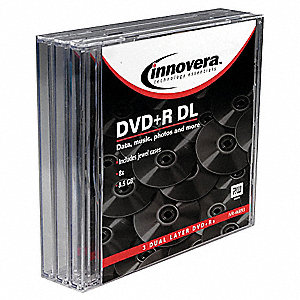 DVD+R Disc, 8.50 GB Capacity, 8x Speed