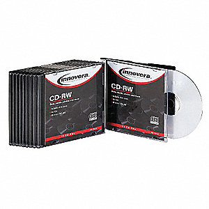 CD+RW Disc, 700 MB Capacity, 12x Speed