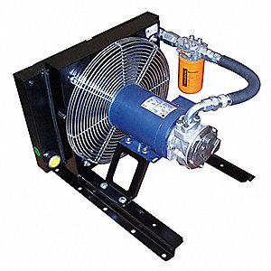"15.2"" x 17.7"" x 24"" 230/460 Volt Forced Air Oil Cooler, Black"