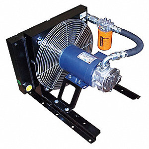 "23.4"" x 27.6"" x 24"" 230/460 Volt Forced Air Oil Cooler, Black"
