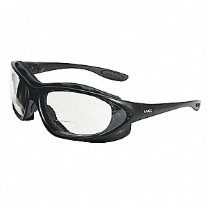 Bifocal Safety Read Glasses,+2.00,Clear