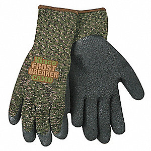 Coated Gloves,M,Camouflage,PR