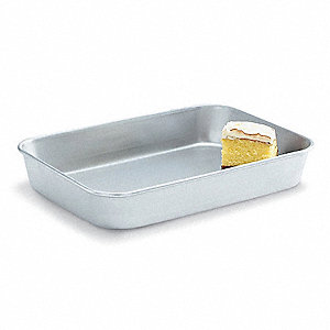 "9"" W x 13"" L x 2-1/4"" D Aluminum Bake and Roast Pan"