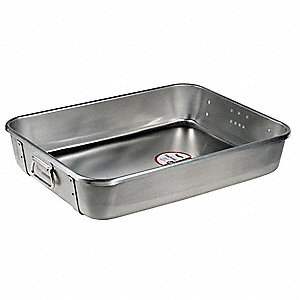 "Roasting Pan Top, 24"" W x 18"" L x 4-3/4"" D Aluminum with Chrome-Plated Steel Straps"