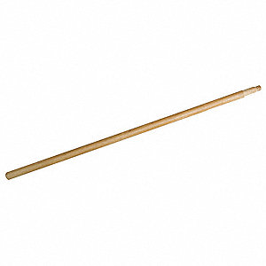 Natural Threaded Wood Broom Handle, Length 38""