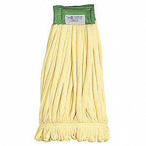 Quick Change, Side-Gate Microfiber Tube Wet Mop Head, Yellow