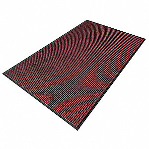 ENTRANCE MAT,YARN/PVC,RED,3X10 FT.