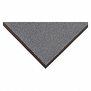 "Indoor Entrance Mat, 6 ft. L, 4 ft. W, 1/4"" Thick, Rectangle, Blue"