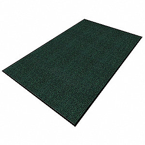 ENTRANCE MAT,YARN/PVC,GREEN,3X5 FT.