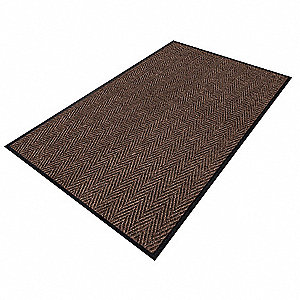 ENTRANCE MAT,YARN/PVC,BROWN,4X6 FT.