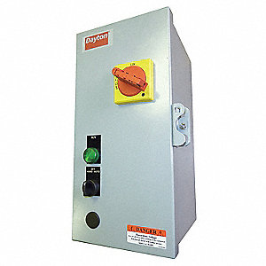 120VAC Selector Switch IEC Combination Starter, 1 Enclosure NEMA Rating, Amps AC: 19 to 25