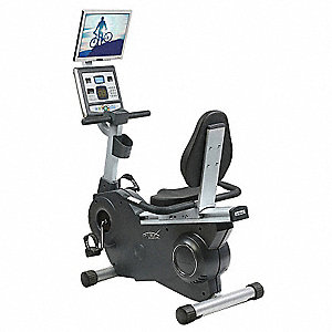 "Recumbent Bike with Belt-Drive System Drive System and 330 lb. Max. Weight, 27"" x 48"" x 53"""