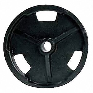 Weight Plate, Black&#x3b; Weight: 35 lbs.