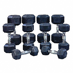 Dumbbell 10 Piece Set, 150 Lbs.