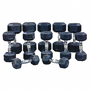 Dumbbell 12 Piece Set, 210 Lbs.