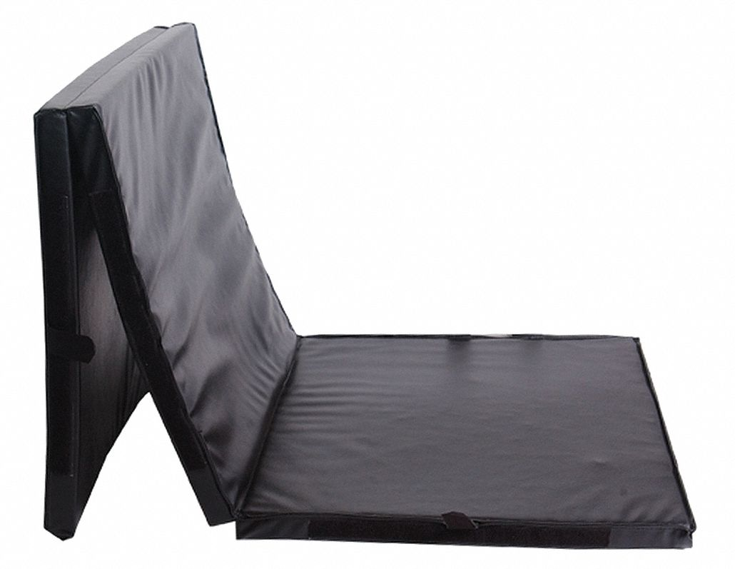Mats Aerobic,  Black,  6 ft Length,  2 ft Width,  2 in Thickness