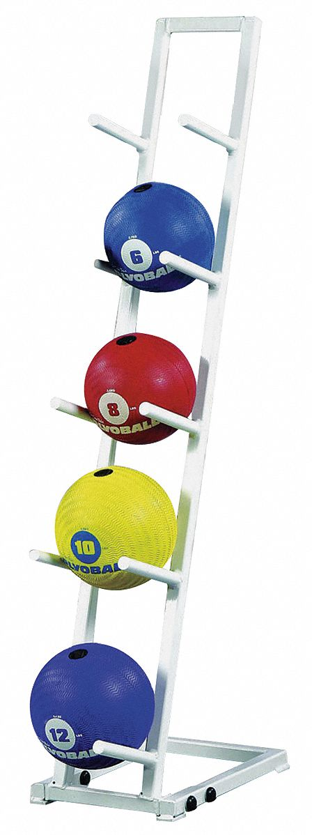 Medicine Ball Rack Set,,  Steel,  White