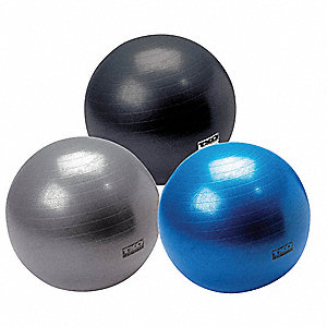 Anti-burst Rubber 55 cm, 65 cm, and 75 cm Agility Balls Set, Blue, Red, and Silver