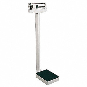 "Mechanical Physician Scale, 405 lb. Capacity, 10-1/2"" W x 14-1/2"" D"