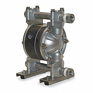 Aluminum PTFE Single Double Diaphragm Pump, 12 gpm, 100 psi