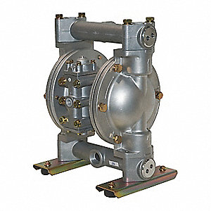 Aluminum Santoprene® Single Double Diaphragm Pump, 49 gpm, 100 psi