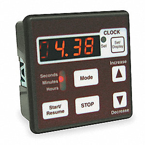 Electronic Interval Timer, 15 Amps, 120VAC Voltage, Number of Channels: 1