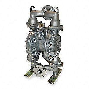 Aluminum PTFE Single Double Diaphragm Pump, 120 gpm, 100 psi