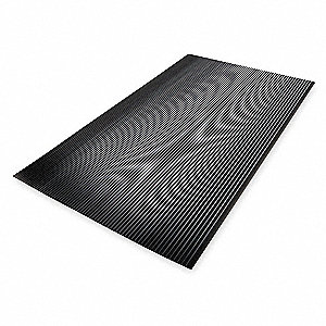 Switchboard Mat, Black, Corrugated, 5 ft. x 3 ft.