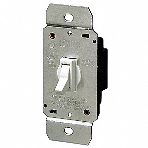 DIMMER,TOGGLE,600W,1-POLE,INCANDES,