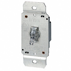 DIMMER,TOGGLE,600W,1-POLE,CLEAR LIG