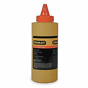Marking Chalk Refill,Permanent,Red,8 Oz