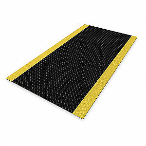 "Switchboard Mat, Diamond Plate Surface Pattern, 5 ft. L, 3 ft. W, 1/4"" Thick"