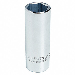 "1-3/16"" Steel Socket with 1/2"" Drive Size and Polished Finish"