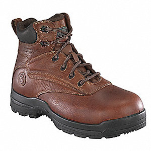 "6""H Men's Work Boots, Composite Toe Type, Leather Upper Material, Deer Tan, Size 7-1/2M"